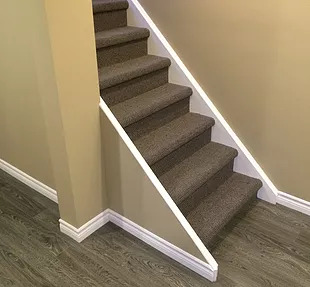 stairs renovation with carpet